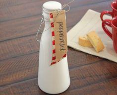 homemade coffee creamer :: peppermint