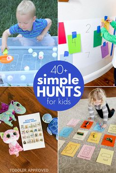 : Simple Learning Hunts for Toddlers games for kids ideas Pre K Activities, Toddler Learning Activities, Infant Activities, Summer Activities, Toddler Play, Toddler Crafts, Preschool Scavenger Hunt, Scavenger Hunts, Preschool Games