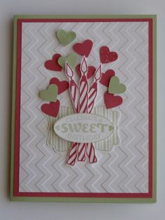 "January Stampin' Up! Workshop (2014) - We used the stamp set ""Cycle Celebration"" #1"