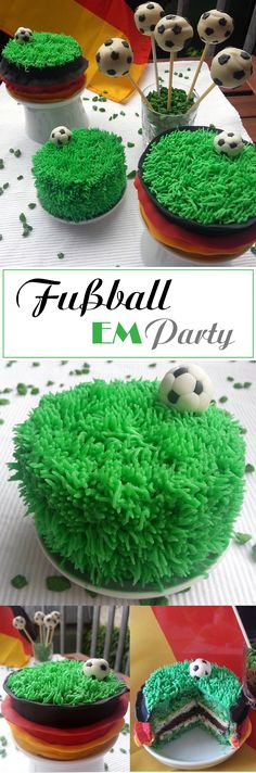 Fußball Törtchen und Cake Pops *Soccer Cake*