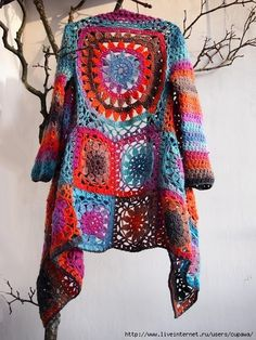 Granny Squares Jacket Crochet Pattern Tutorial DIY
