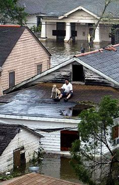 Hurricane Katrina-2005  I don't forget that night.