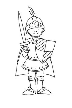 Cartoon knight coloring page medieval warrior just free for Freak the mighty coloring pages