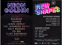Neon Gold at SxSW Neon Golden Wednesday 3.15 + New Shapes Friday 3,17WithGuitars
