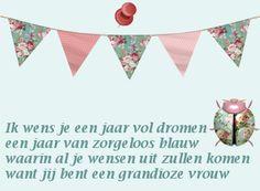 Verjaardagsgedicht: Ik wens je een jaar vol dromen...