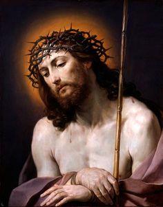 Christ with Crown of Thorns (Christus mit der Dornenkrone) by Guido Reni, 1636-7, Dresden (SKD), Germany