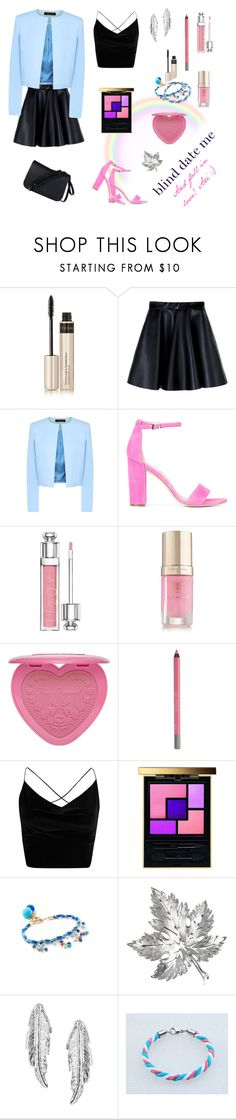 """""""Blind Date Me & Fall in Love"""" by ari-shej ❤ liked on Polyvore featuring By Terry, MSGM, Jaeger, Sam Edelman, Christian Dior, Margaret Dabbs, Urban Decay, Boohoo, Yves Saint Laurent and Rosantica"""