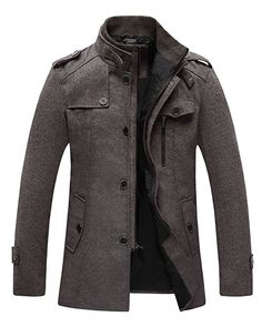 Looking for chouyatou Men's Stand Collar Wool-Blend Classic Pea Coat Removable Inner Collar ? Check out our picks for the chouyatou Men's Stand Collar Wool-Blend Classic Pea Coat Removable Inner Collar from the popular stores - all in one. Fashion Mode, Mens Fashion, Fashion Shirts, Fashion Menswear, Bold Fashion, Fashion Wear, Asian Fashion, Mode Swag, Online Shop Kleidung