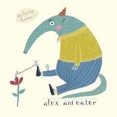 Meet  Alex Anteater: Character 074 / 100  #the100dayproject  #100daysofanimals