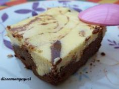 Le brownies - cheese cake à tomber par terre....