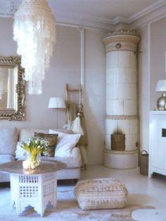 White Bohemian Interior #boho #bohemian #home