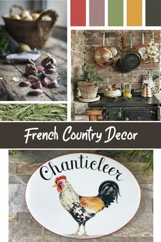 Ceramic Hand Painted Plaque, French Farmhouse decor inspiration color palette, French farmhouse style tips for your kitchen decor that are timeless and chic! French Farmhouse Decor, French Country Decorating, Farmhouse Style, Beach House Signs, Home Signs, Kitchen Decor Signs, Country Wall Decor, Rooster Kitchen, Cottage Style Homes