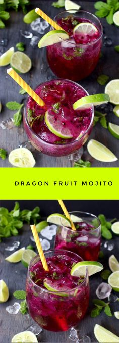 Dragon Fruit Juice Mojito | CiaoFlorentina.com