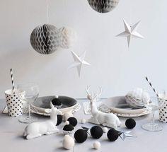 """my little day """"at the table there . Nordic Christmas, Christmas Time, Merry Christmas, Xmas, Deco Table Noel, Christmas Fashion, New Theme, Decoration Table, Baby Party"""