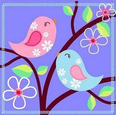 Moldes passarinho