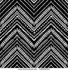 Zigzag and stripe line. Vector illustration for tribal design. Black and white colors. For textile, wallpaper, wrapping paper. Tribal Print Pattern, Tribal Prints, Print Patterns, Art Prints, Tribal Pattern Wallpaper, Stripe Pattern, Fabric Patterns, Color Patterns, Surfergirl Style