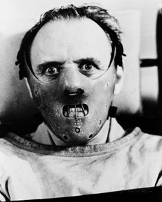 Anthony Hopkins In The Silence Of The Lambs as Hannibal with face mask on Poster Horror Icons, Horror Art, Scary Movies, Horror Movies, Arte Cholo, Horror Photos, Sir Anthony Hopkins, Classic Monsters, Les Oeuvres
