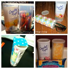 Uses for crystal light containers