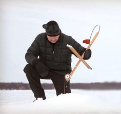 Ice fishing with #LLBean and Made-in-Maine Jack Traps