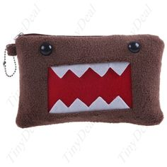 Flush Coated Hand Cosmetic Bag Makeup Pouch Pencil Case with Anime Domo-kun Pattern for Girls HBI-14257