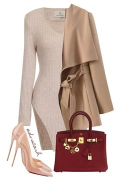 Untitled #526 by styledbytashh on Polyvore featuring polyvore fashion style Hermès Christian Louboutin clothing
