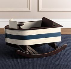 wooden rocking boat, oh my too, cute! Pretty sure Baby Lane needs this! @Captain Lono and @Ali Carter