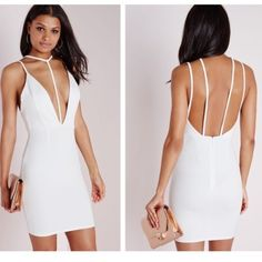 BNWT gorgeous white dress Gorgeous brand new super sexy white dress for any occasion by Missguided (a UK Brand). Sold out online and in store. This is size 8 but more like a medium. Perfect for spring/ summer! Will not last :) Dresses
