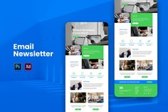 Business Email Newsletter by uicreativenet on Envato Elements Email Template Design, Email Templates, Email Design, Newsletter Templates, Web Design, Newsletter Ideas, Business Emails, Global Business, Online Business