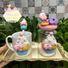 139, Biscuits, Crafts For Kids, Cake, Desserts, Instagram, Food, Decorated Jars, Miniature Food