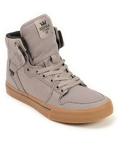 e5a5ccf1f3 Supra Vaider Storm Grey   Gum Canvas Skate Shoes
