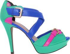Color Blocking ♥ http://www.kinei.com.br/produto/sandalia-feminino-tanara-3401-verde-framboesa-2.71923