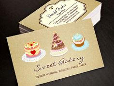Wedding Birthday Cakes Business Card Template Bakery Cards Online