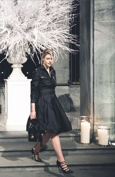 Stepping out for an elegant evening in Milan: Sofie Valkiers in Ralph Lauren Collection