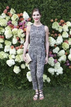 Hilary Rhoda in the Resort 2014 Adeline Jumpsuit at the 2013 rag & bone x Baby Buggy dinner in East Hampton