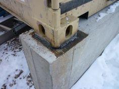 Concrete footings for a shipping container home tincancabin.com