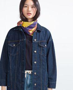 Image 2 of OVERSIZED DENIM JACKET from Zara