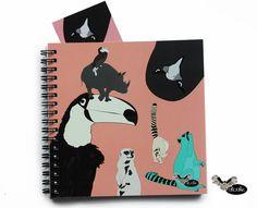 Craizy Animals like Owl Parrot Meerkat Hawk Iguana Lemur by Sloshe, $7.99