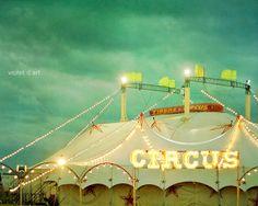 Circus. 24x30 Carnival Photograph. Large Size Wall di violetdart, $149.00