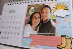 Karen Foster Desk Calendar enhanced with CTMH products