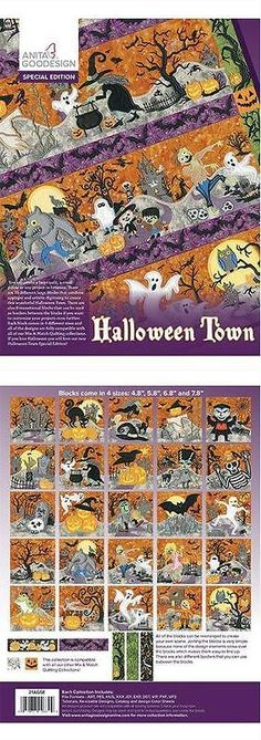 Embroidery Machines 71196: Anita Goodesign Embroidery Designs Halloween Town -> BUY IT NOW ONLY: $108.94 on eBay!