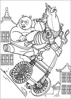 Kung Fu Panda Tegninger til Farvelægning. Printbare Farvelægning for børn. Tegninger til udskriv og farve nº 5