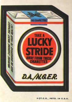 Lucky Stride Cigarettes 3rd Series (1973)