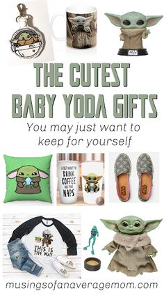 The cutest baby yoda gifts including toys, plushes, jewelry, mugs, t-shirts and more! Yoda Happy Birthday, Star Wars Birthday, Birthday Gifts, Star Wars Bathroom, Ewok, Best Blogs, Mandalorian, Gifts For Kids, Cute Babies
