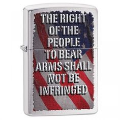 Zippo Right of the People Brushed Chrome Finish 28641 Oil Lighter