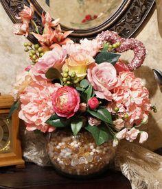 Aphrodities Delight- Valentines Jewel Tone Premium Silk Floral Arrangement