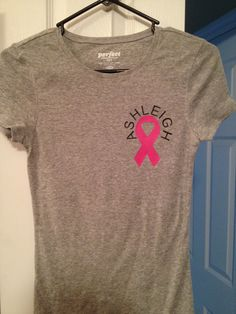 HTV. Silhouette cameo. Race for the cure shirt.