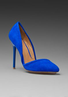 LAMB Meridith Suede Heel in Electric Blue at Revolve Clothing - Free Shipping!