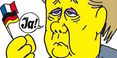 Caricature de Angela Merkel de Charb pour Charlie Hebdo