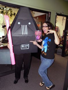 Scholastic Book Fairs employee dressed as Darth Paper (from Tom Angleberger's bestselling Origami Yoda series).