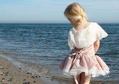 DOLLY by Le Petit Tom ® the RAPUNZEL DRESS. Handmade changeant couture dress with braid and adjustable lace-up back.
